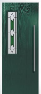 H - Modern 1Left Shown With Barcelona Green Glass